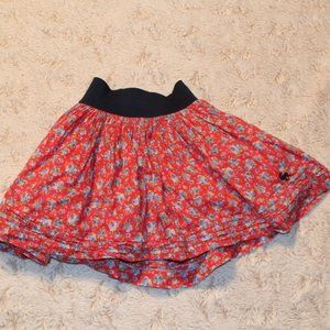 Abercrombie Kids red floral stretchy skirt